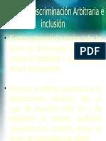 Ley de No Discriminación Arbitraria e Inclusión