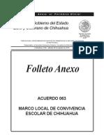 Anexo 063-2015 Marco Local Convivencia Escolar Chihuahua