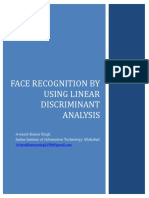 face recognition by using linear discriminant analysis