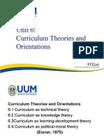 Curriculum Theories Orientation