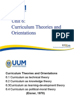 Curriculum Theories Orientation