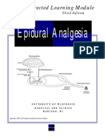 Epidural Analgesia -A Self-Directed Learning Module 3rd