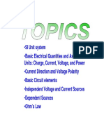 Unit System Electrical Elements