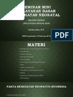 Materi Magang Terpadu - Pelayanan Dasar Neonatus