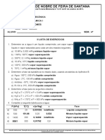 II Lista de Exercicios - Termo I - 20161 - Gabarito