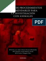 Manual de procedimientos recomendables para la investigación con animales