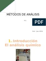 1I. Introducción METODOS DE ANALISIS
