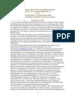 La Fe y La Inculturacion Comission Teologica 1987