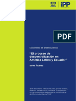Alvarez Silvia. El Proceso de Descentralización en AL y Ecuador
