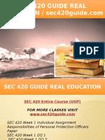 SEC 420 GUIDE Real Education - Sec420guide.com