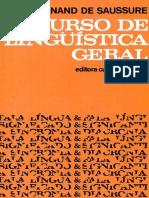 Curso de Linguística Geral (Ferdinand de Saussure)