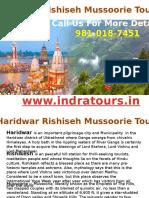 haridwar rishikesh mussoorie tour package.pptx