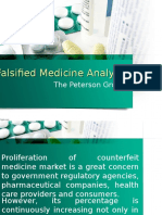 Falsified Medicine Analysis