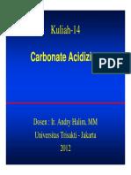 Carbonate Acidizing AH