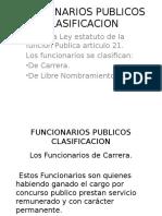 Clasificacion de Los Funcionarios Publicos