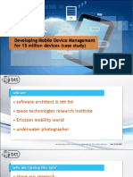 Developing Mobile Device Management for 15 million devices (case study)