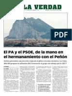 160405 La Verdad- El PSOE y El PA, De La Mano en El Hermanamiento Con El Peñón