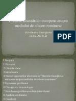Efectele Finantarilor Europene Asupra Mediului de Afaceri Romanesc