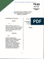 Federal court wolverine endangered species decison