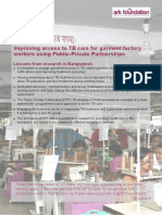Improving access to TB care for garment factory workers using Public-Private Partnerships in Bangladesh