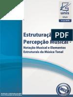 Estruturação e Percepção Musical - Notação Musical e Elementos Estruturais Da Música Tonal