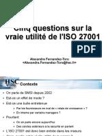 Cinq Questions Sur La Vraie Utilite de l ISO-fernandez-Toro