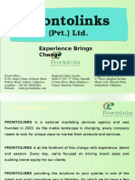 Prontolinks BTL Marketing Company Profile