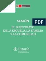 Sesiones El Buen Trato en La Escuela Familia y Comunidad