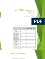 Taller PSU Lenguaje 2015