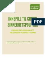 Grønn sikkerhetspolitikk