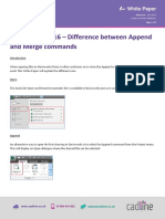 Navisworks 2016 - Difference Between Append and Merge