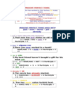 Some Structures of Present Perfect