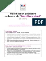 """Plan d'action prioritaire en faveur du """"bien-être animal"""""""