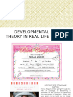 developmental theory in real life