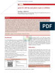 02. Postoperative Analgesia for Cleft Lip and Palate Repair in Children - 2016