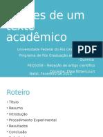Seções de um texto academico