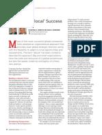 Achieving Glocal Success