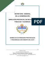 Nomina de Autoridades 2015