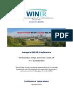 WINIR2014 Programme