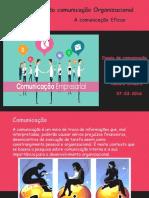 Princípios da Comunicação Organizacional.
