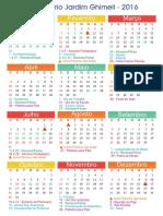 Ghimell Calendário 2016
