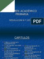 Regimen Academico Primaria Power Reunión