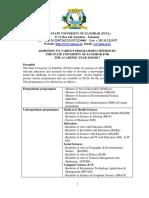 Admission Announcement 2016-2017