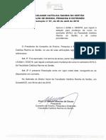 MUDANÇA de CURSO - Resolução Nº 07 de 06 de Abril de 2016