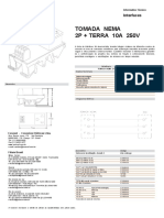 Interface Tomada 2P + Terra 10A 250V
