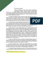 Texte 1 Variation Des Langues Et Des Discours de Spécialité
