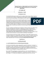 Proyecto de Inversion Para La Implementacion de Un Hotel Tres Estrellas y Servicios Adicionales en La Ciudad de Arequipa