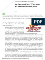 Steps to Make Our Supreme Court Effective & Efficient _ Vidhi's Recommendations