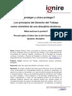 Principios de Derecho del trabajo