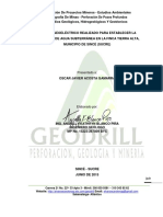 Estudio Geoeléctrico Realizado en  Parcela Tierra Alta, Municipio de Sincé (Sucre)